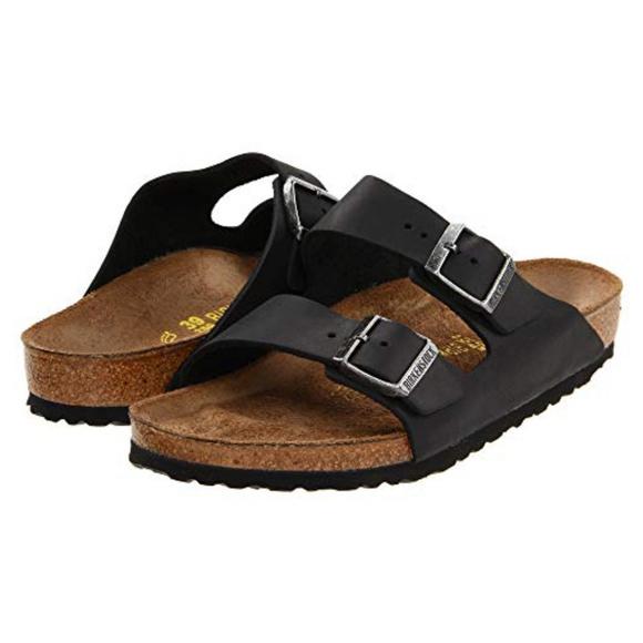 4bd5a37f92f9 Birkenstock Shoes - Birkenstock Arizona black oiled leather sandal 40